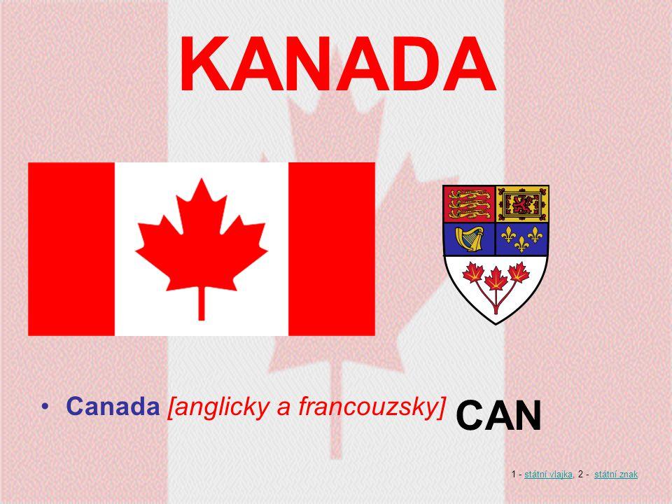 KANADA Canada [anglicky a francouzsky] CAN 1 - státní vlajka, 2 - státní znakstátní vlajkastátní znak