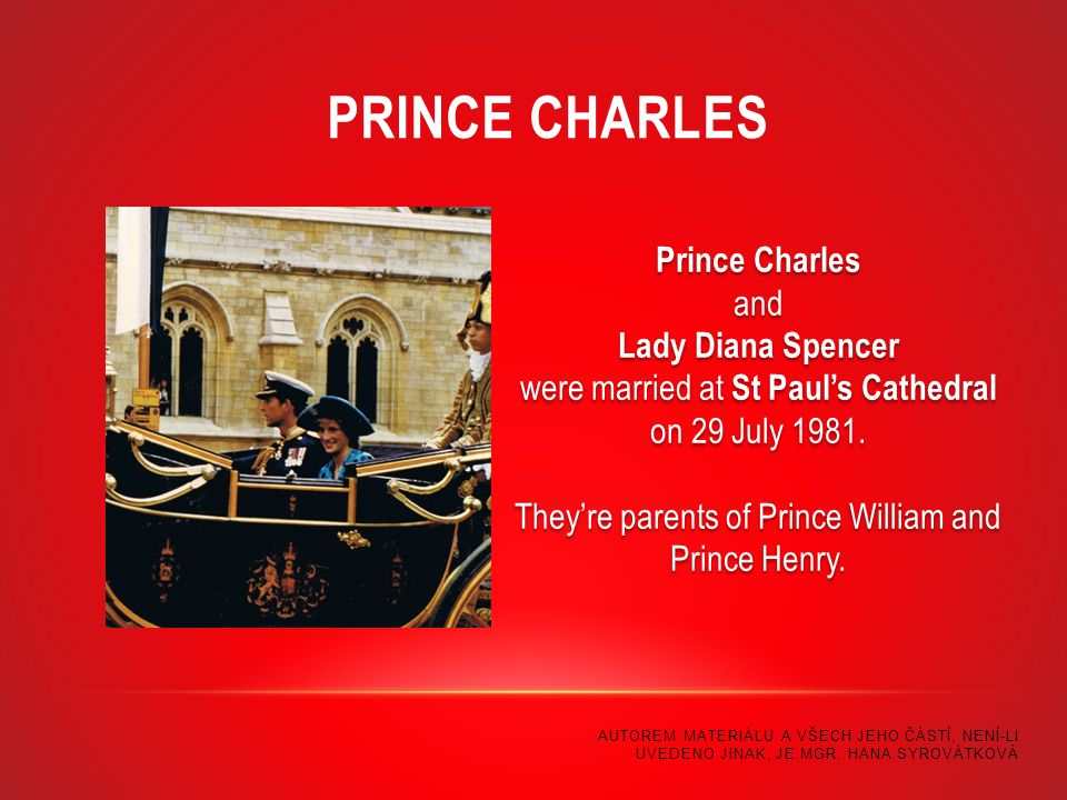 Prince Charles and Lady Diana Spencer were married at St Paul's Cathedral on 29 July 1981.