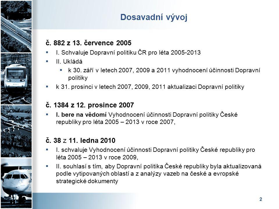 2 Dosavadní vývoj č. 882 z 13. července 2005  I.