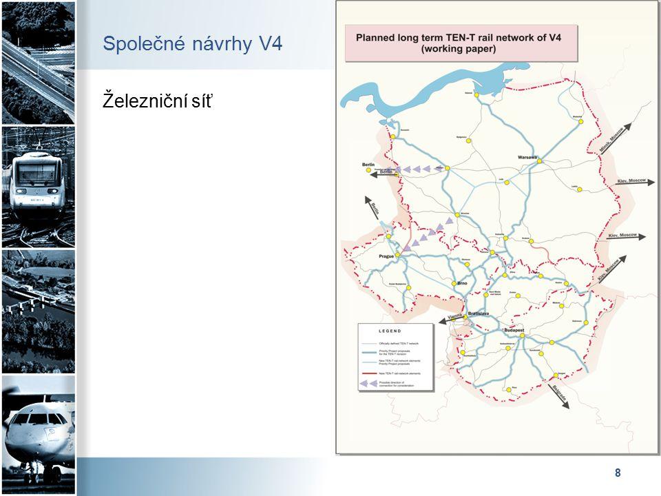 9 Společné návrhy V4 Síť vysokorychlostních železničních tratí