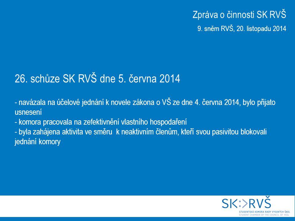 Mimořádná schůze SK RVŠ dne 3.