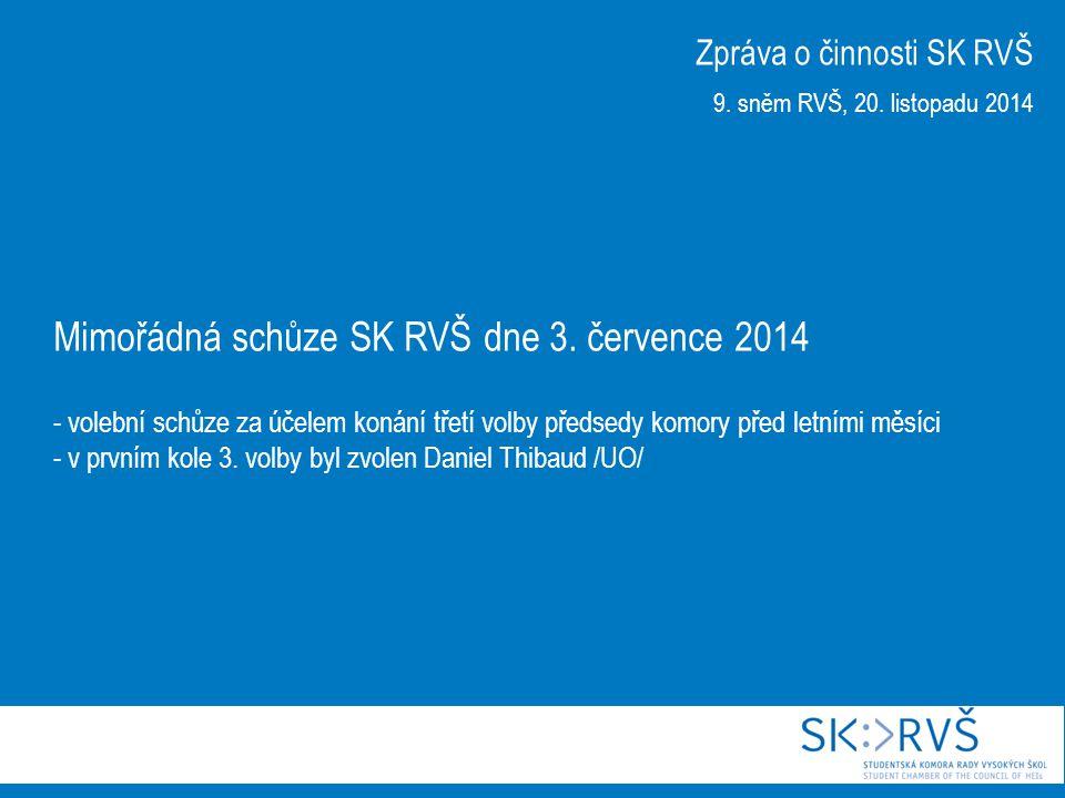 27.schůze SK RVŠ dne 11. září 2014 - přijato usnesení k novele zákona o VŠ ve znění z 21.