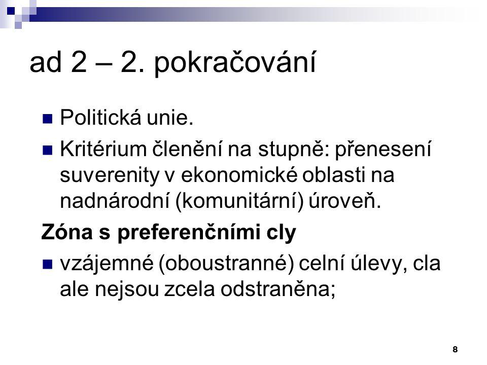 8 ad 2 – 2. pokračování Politická unie.