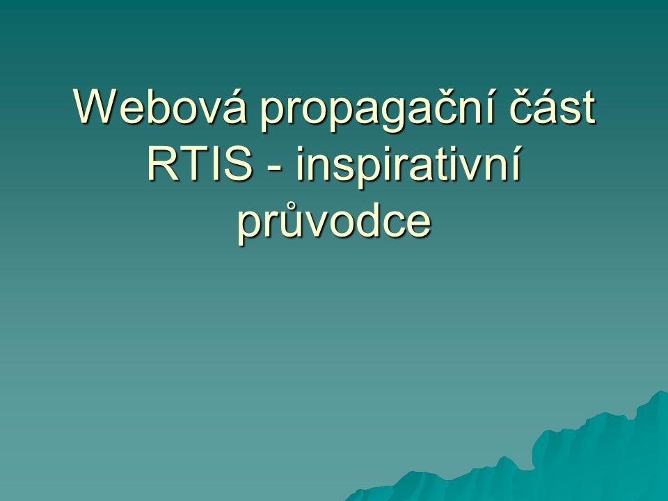 Webová propagační část RTIS - inspirativní průvodce