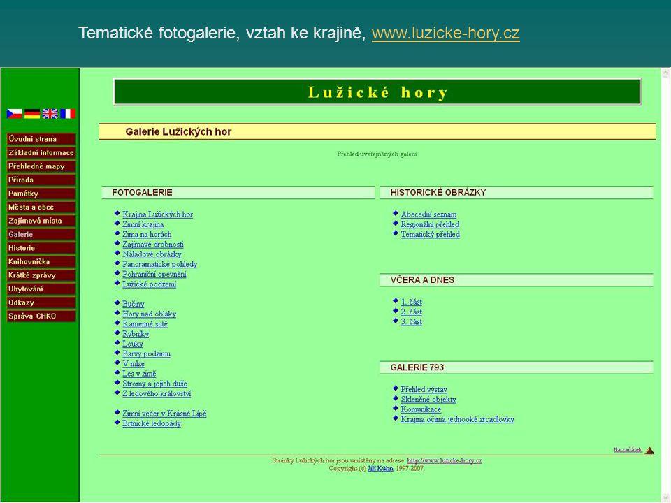 Tematické fotogalerie, vztah ke krajině, www.luzicke-hory.czwww.luzicke-hory.cz