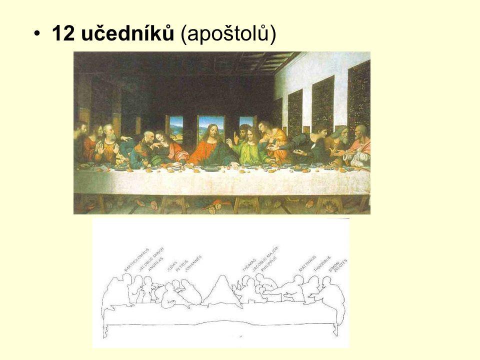 12 učedníků (apoštolů)