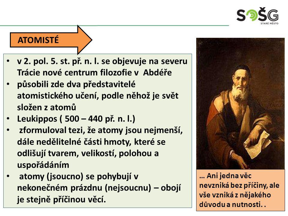 Démokritos ( 470 – 400 př.n.