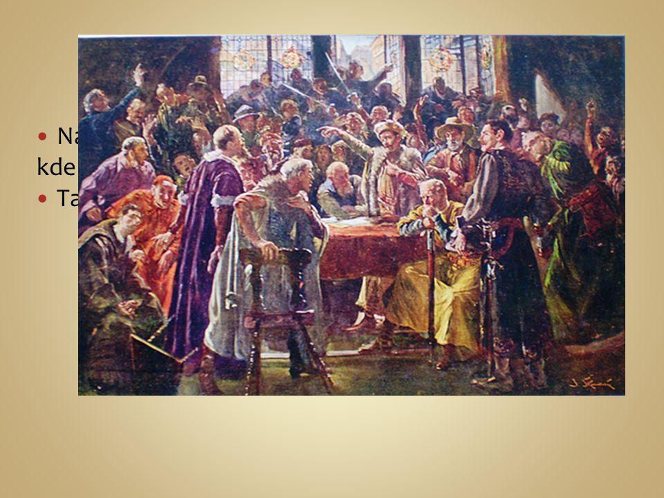 Na jaře roku 1421 svolali pražané Čáslavský sněm, kde se zvolily dočasnou zemskou vládu. Ta se však brzy rozpadla.