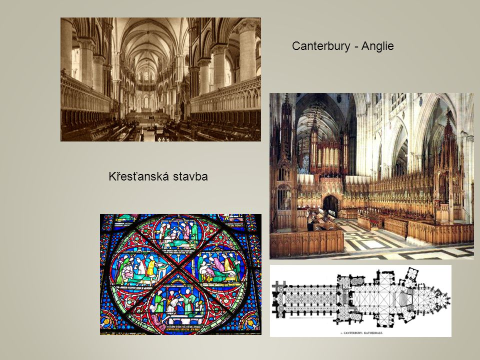 Canterbury - Anglie Křesťanská stavba