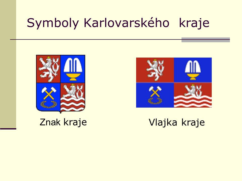 Symboly Karlovarského kraje Znak krajeVlajka kraje