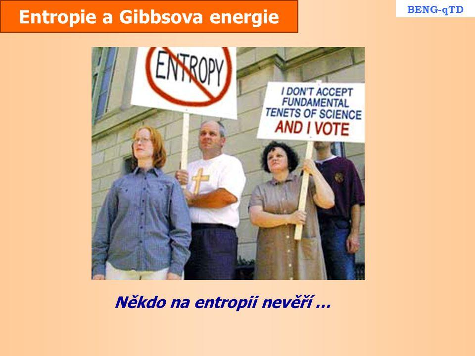 Entropie a Gibbsova energie Někdo na entropii nevěří … BENG-qTD