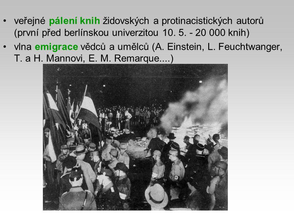 spory o pravomoci - vedení armády (Reichswehr) a SA Hitler obětoval SA (armáda nutná k rozpoutání války) 30.