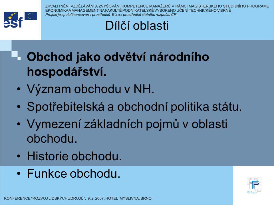 Postavení obchodu v krajinách EU.Změny ve struktuře obchodu ČR.