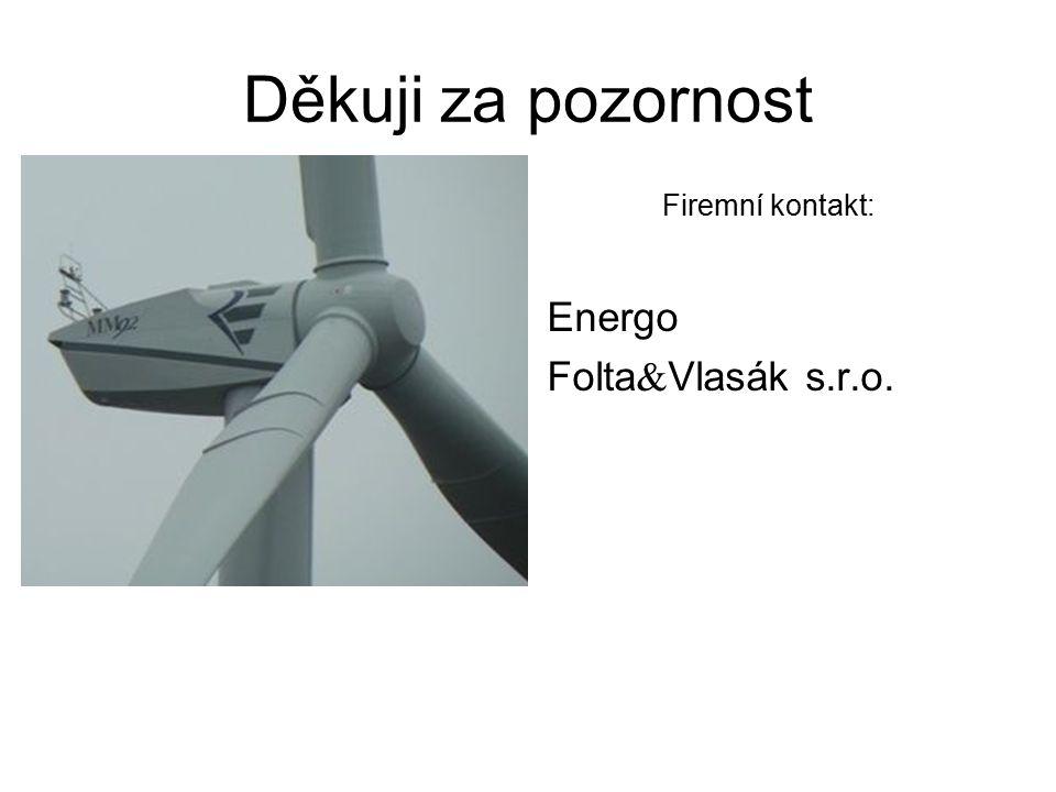 Děkuji za pozornost Firemní kontakt: Energo Folta  Vlasák s.r.o.