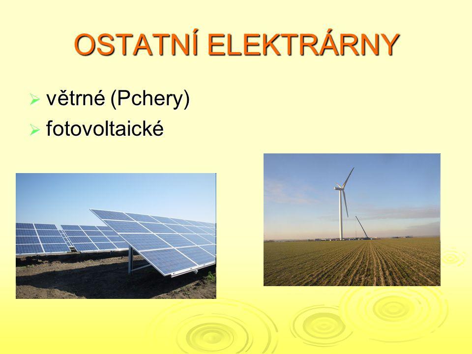 OSTATNÍ ELEKTRÁRNY  větrné (Pchery)  fotovoltaické