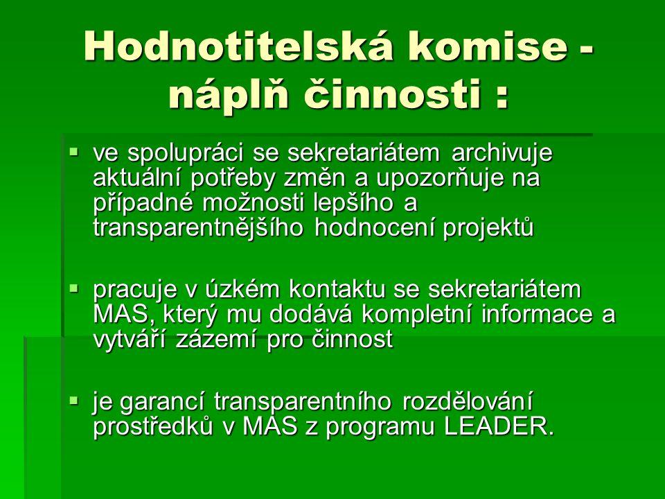Hodnotitelská komise - činnost v roce 2011  ve dnech 11.