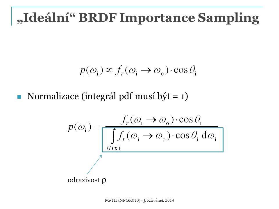 """""""Ideální BRDF Importance Sampling Normalizace (integrál pdf musí být = 1) PG III (NPGR010) - J."""