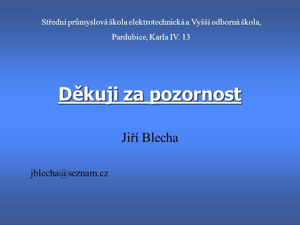 Fotografie Jiří Blecha SPŠE Pardubice