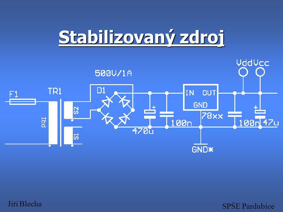 Blokové schéma zařízení Jiří Blecha SPŠE Pardubice