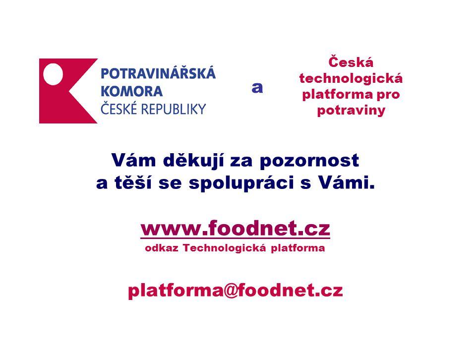 Vám děkují za pozornost a těší se spolupráci s Vámi. www.foodnet.cz odkaz Technologická platforma platforma@foodnet.cz www.foodnet.cz a Česká technolo