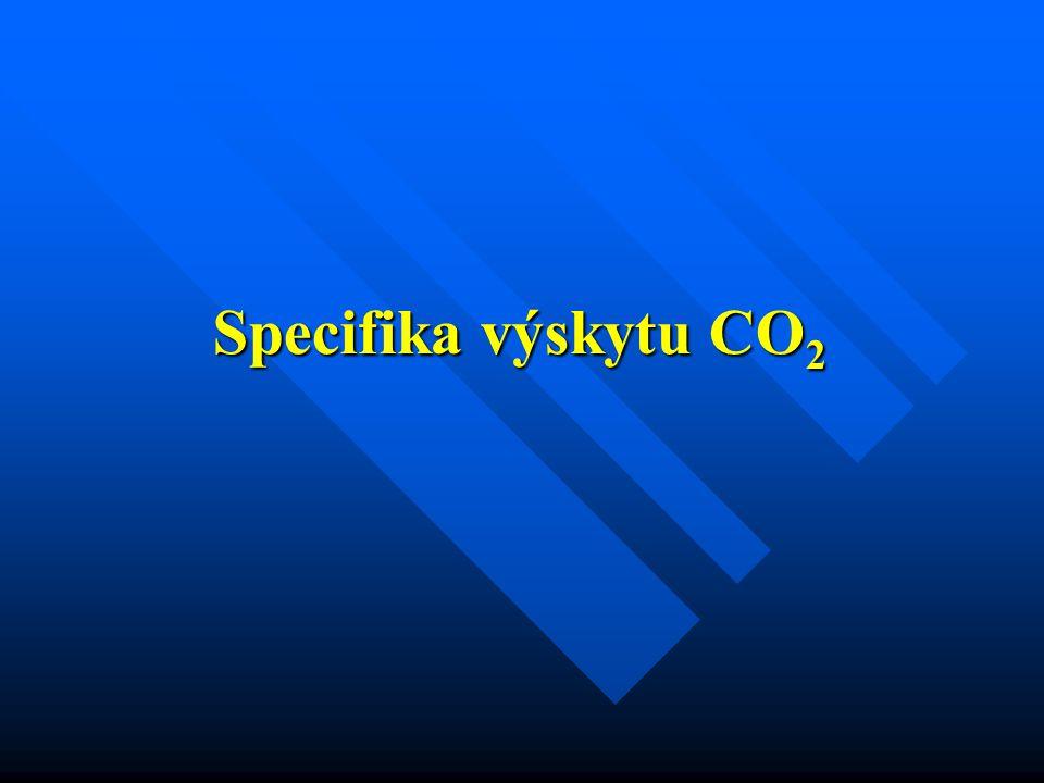 Specifika výskytu CO 2