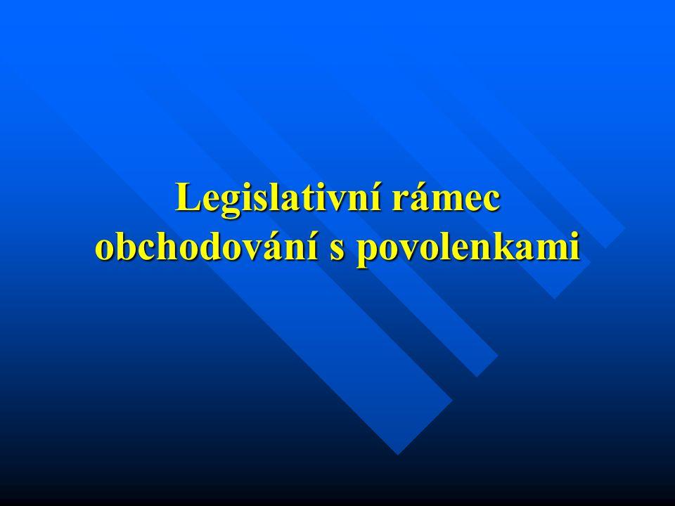 Legislativní rámec obchodování s povolenkami