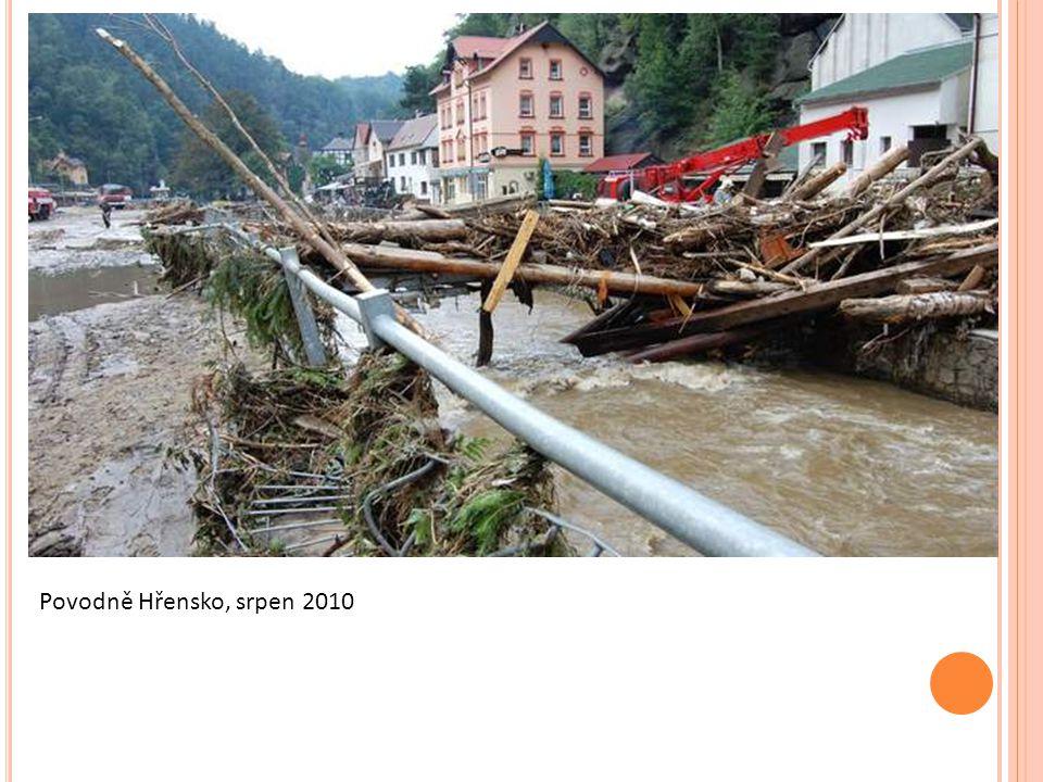 Povodně Hřensko, srpen 2010