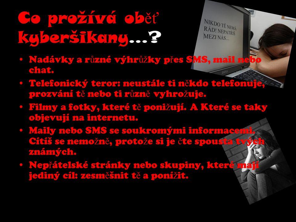 Právní následky šikany! Následky č in ů m ůž ou být trestné!!!
