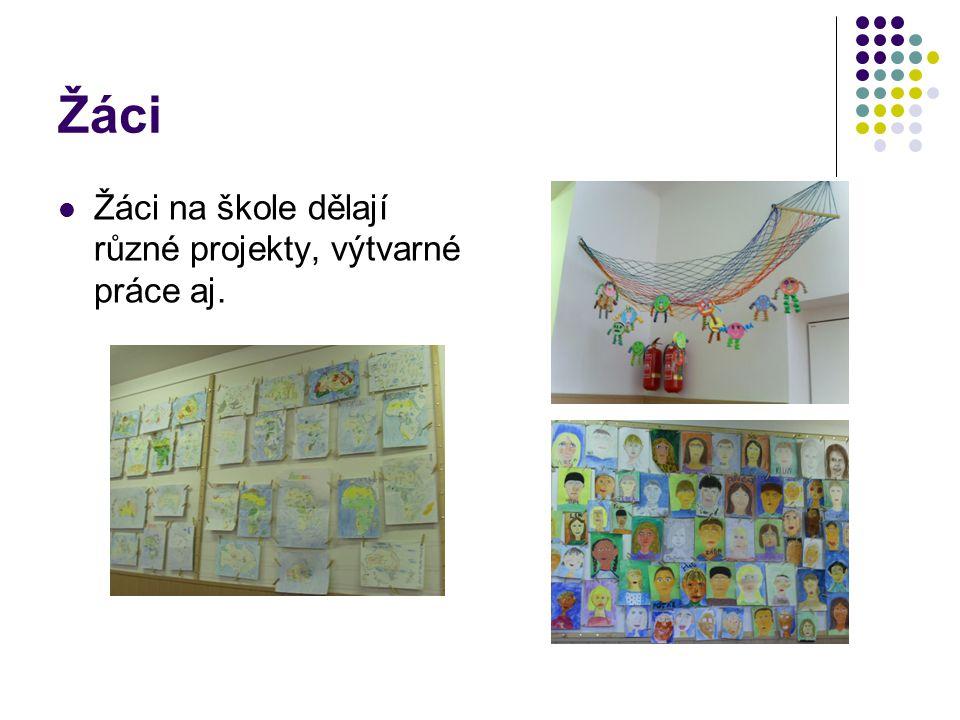 Žáci Žáci na škole dělají různé projekty, výtvarné práce aj.