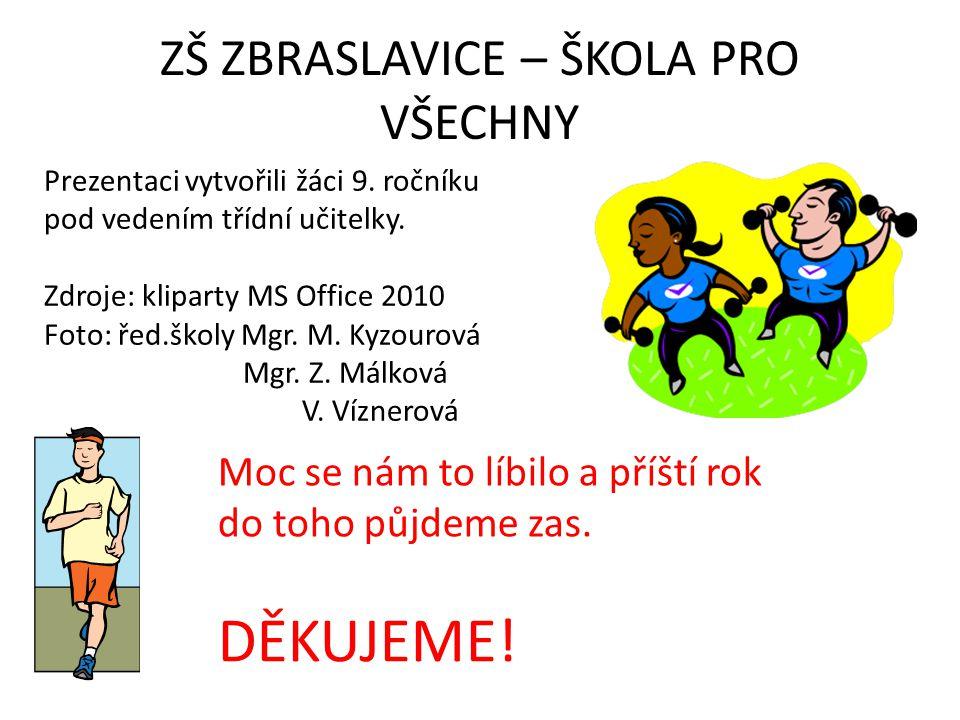 ZŠ ZBRASLAVICE – ŠKOLA PRO VŠECHNY Prezentaci vytvořili žáci 9.