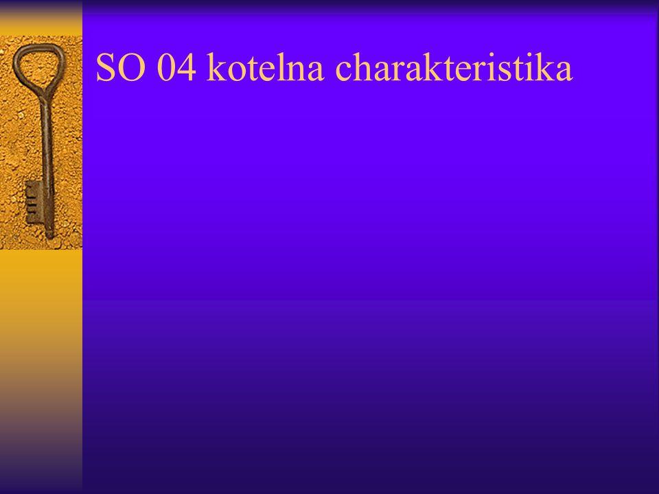 SO 04 kotelna charakteristika