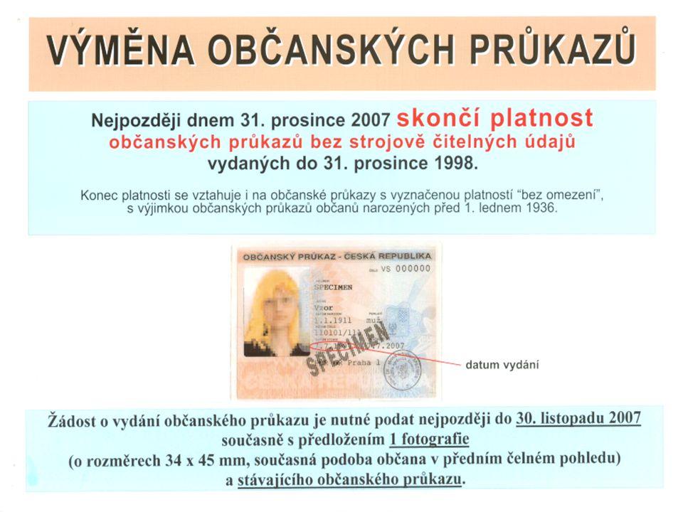 VÝZVA Výměna řidičských průkazů Výměna řidičských průkazů Řidičské průkazy vydané od 1.7.1964 do 31.12.1993 jsou jejich držitelé povinni vyměnit do 31.12.