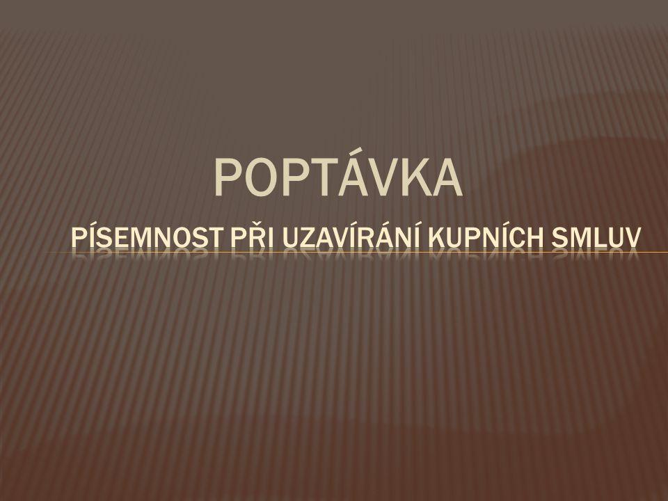 POPTÁVKA