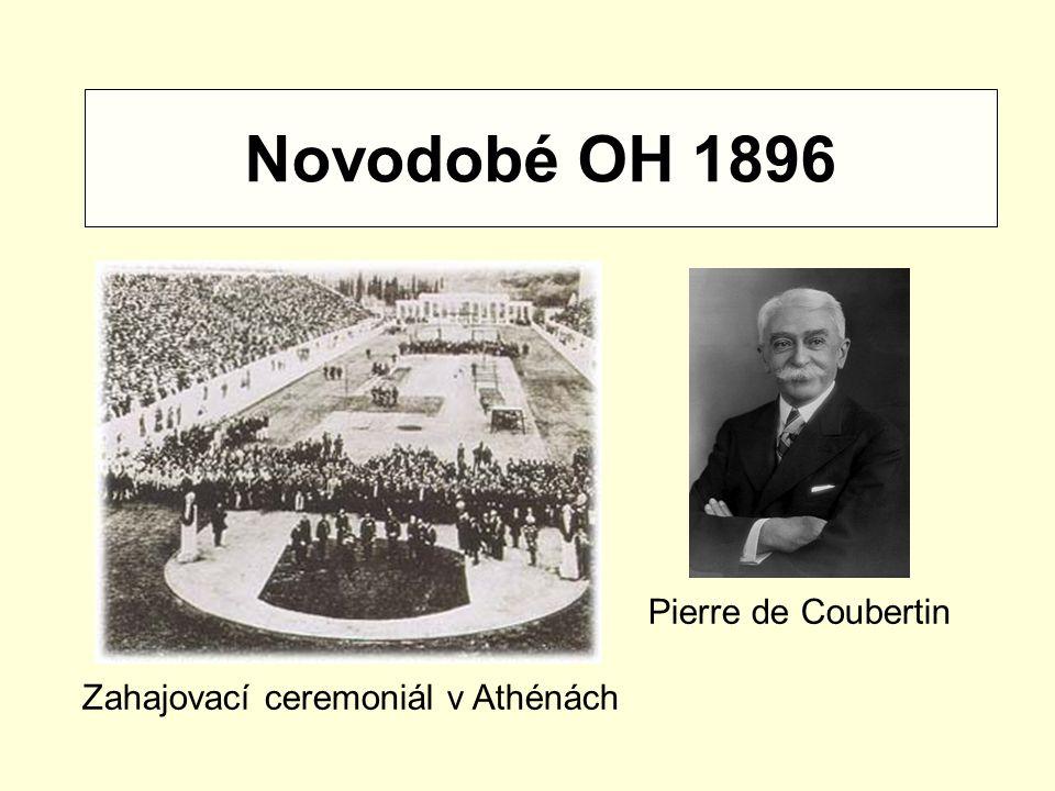 Novodobé OH 1896 Zahajovací ceremoniál v Athénách Pierre de Coubertin