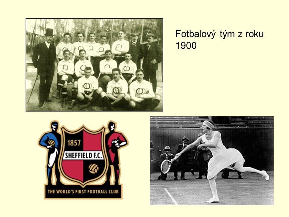 Fotbalový tým z roku 1900