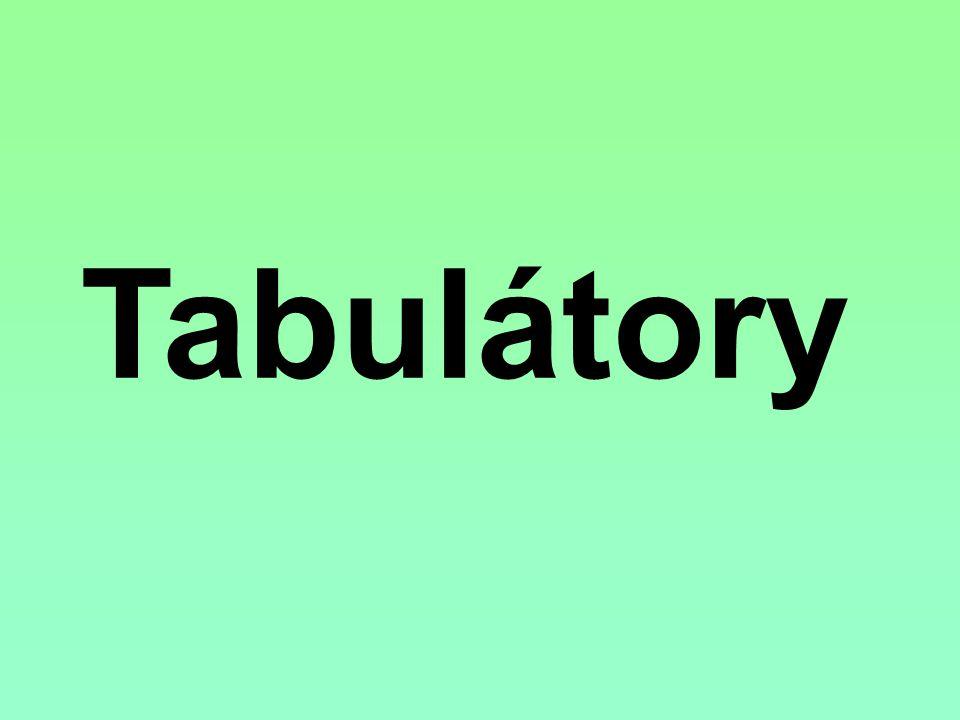 Tabulátor je zjednodušeně řečeno zarážka, která umí udržet text na určité pozici v dokumentu Tabulátor je svázán s klávesou TAB na klávesnici