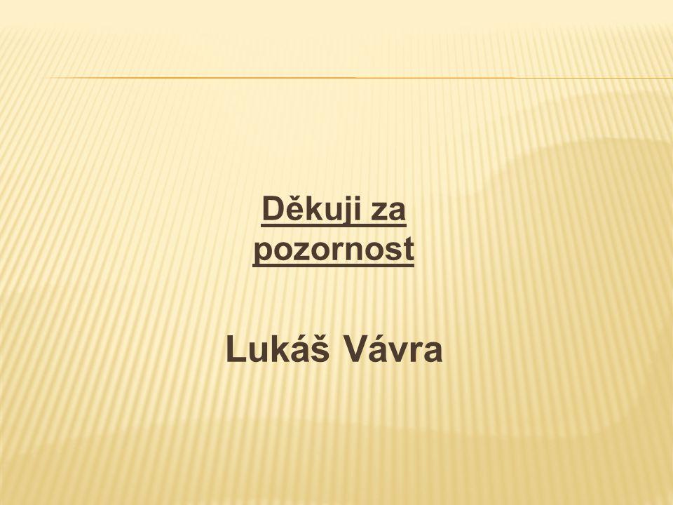 Děkuji za pozornost Lukáš Vávra