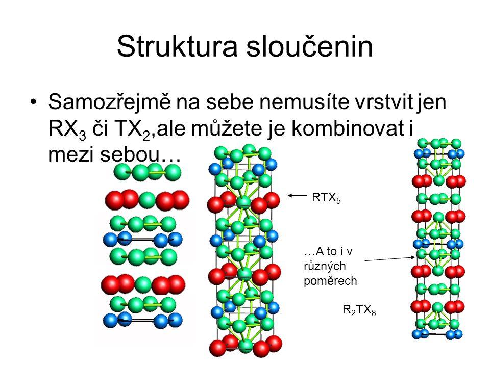 Struktura sloučenin Samozřejmě na sebe nemusíte vrstvit jen RX 3 či TX 2,ale můžete je kombinovat i mezi sebou… RTX 5 …A to i v různých poměrech R 2 T