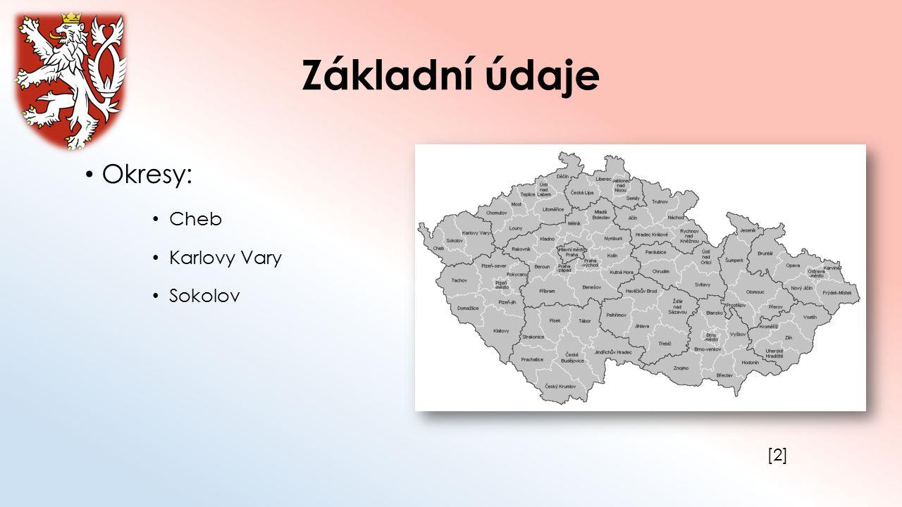 Základní údaje Okresy: Cheb Karlovy Vary Sokolov [2][2]