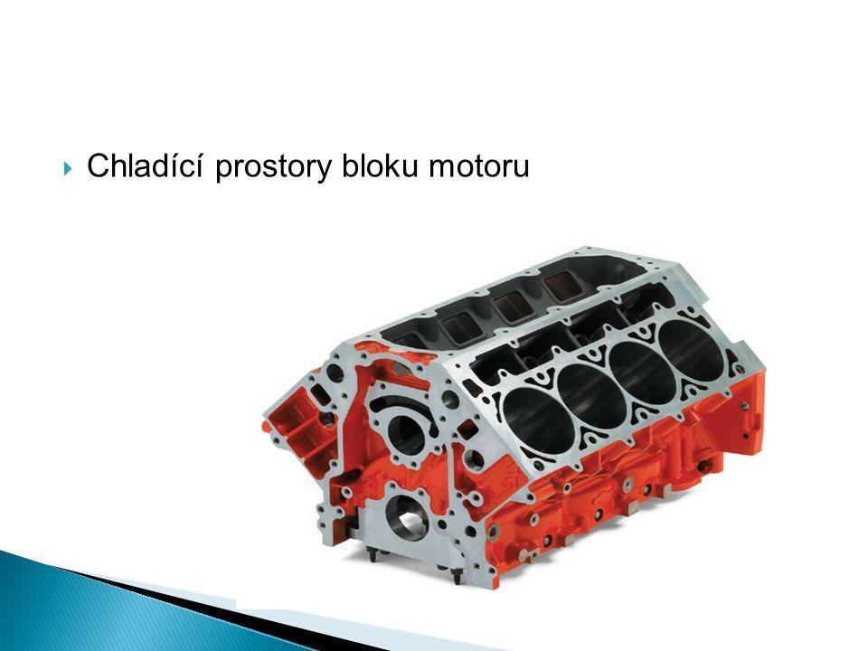  Chladící prostory bloku motoru