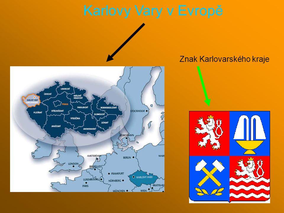 Znak Karlovarského kraje Karlovy Vary v Evropě