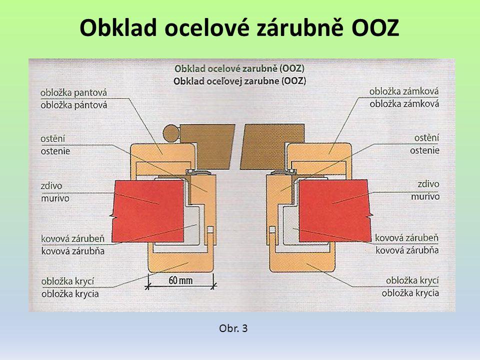 Obklad ocelové zárubně OOZ Obr. 3