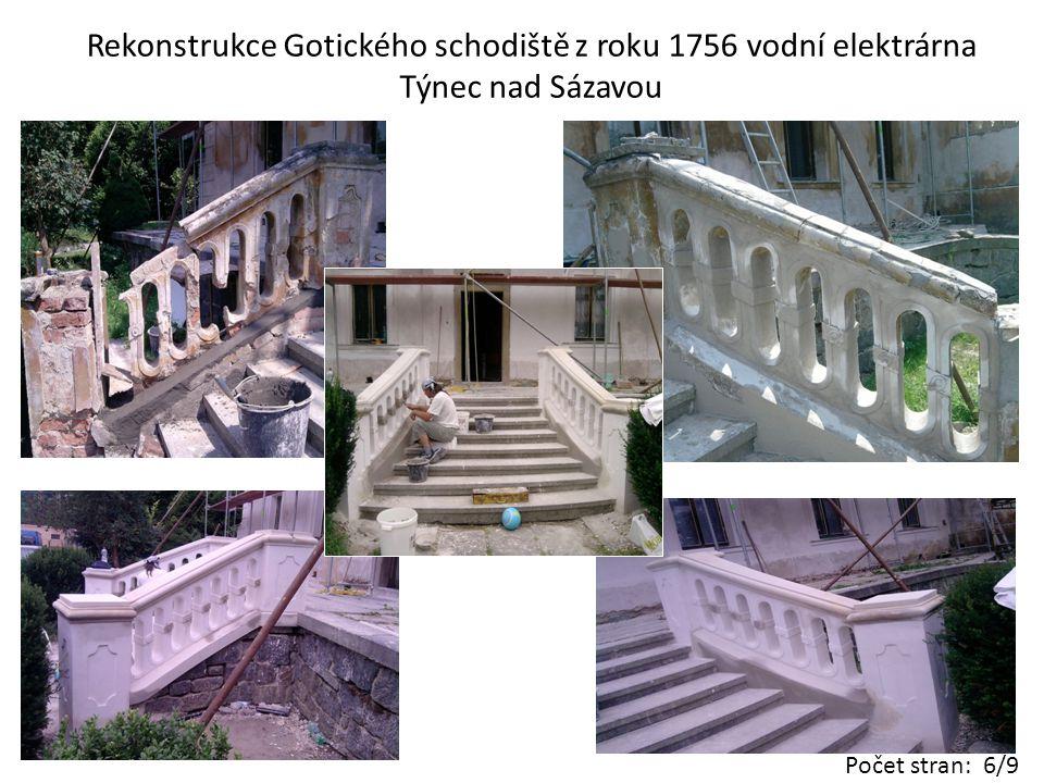 Rekonstrukce fasády Praha Smíchov Počet stran: 7/9