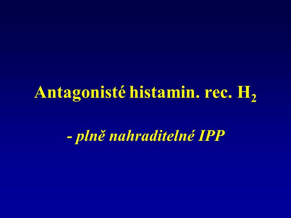 Antagonisté histamin. rec. H 2 - plně nahraditelné IPP