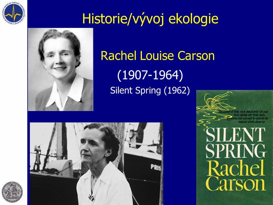 Historie/vývoj ekologie Rachel Louise Carson (1907-1964) Silent Spring (1962)