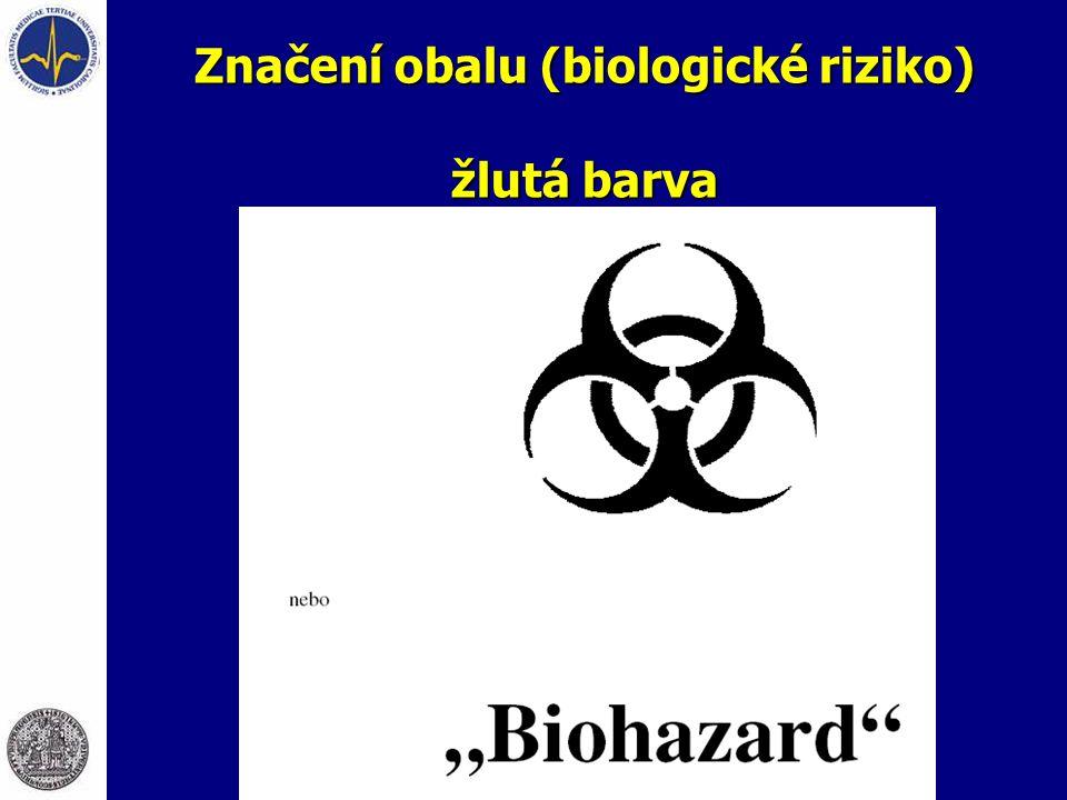 Značení obalu (biologické riziko) žlutá barva