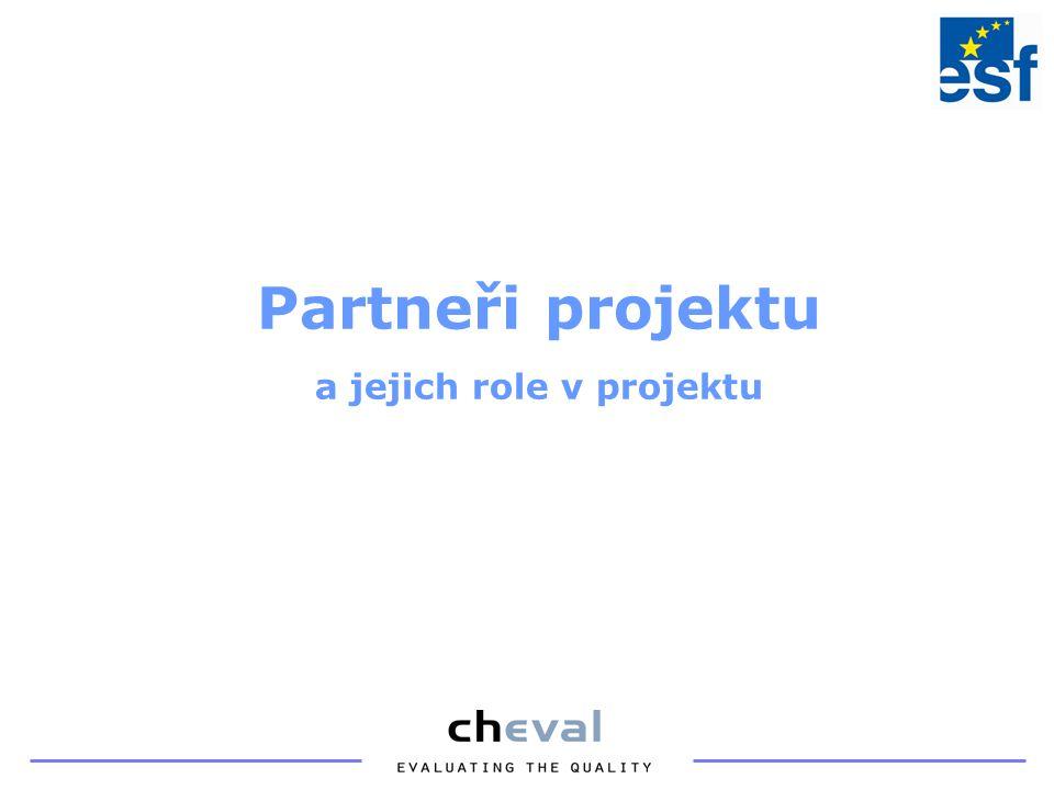 Partneři projektu a jejich role v projektu