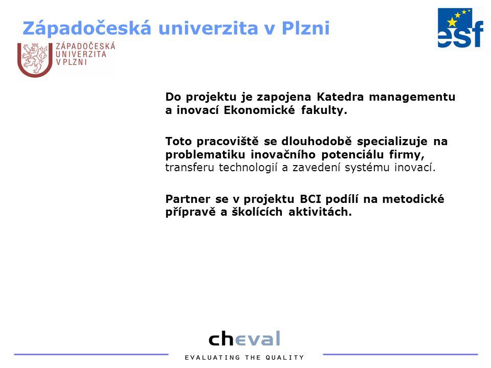 Do projektu je zapojena Katedra managementu a inovací Ekonomické fakulty.