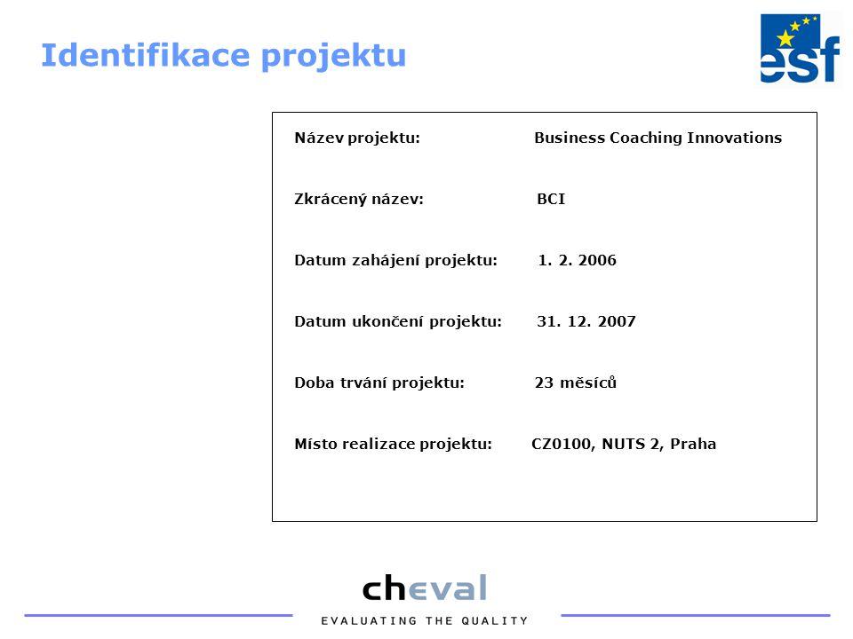 Název projektu: Business Coaching Innovations Zkrácený název: BCI Datum zahájení projektu: 1.