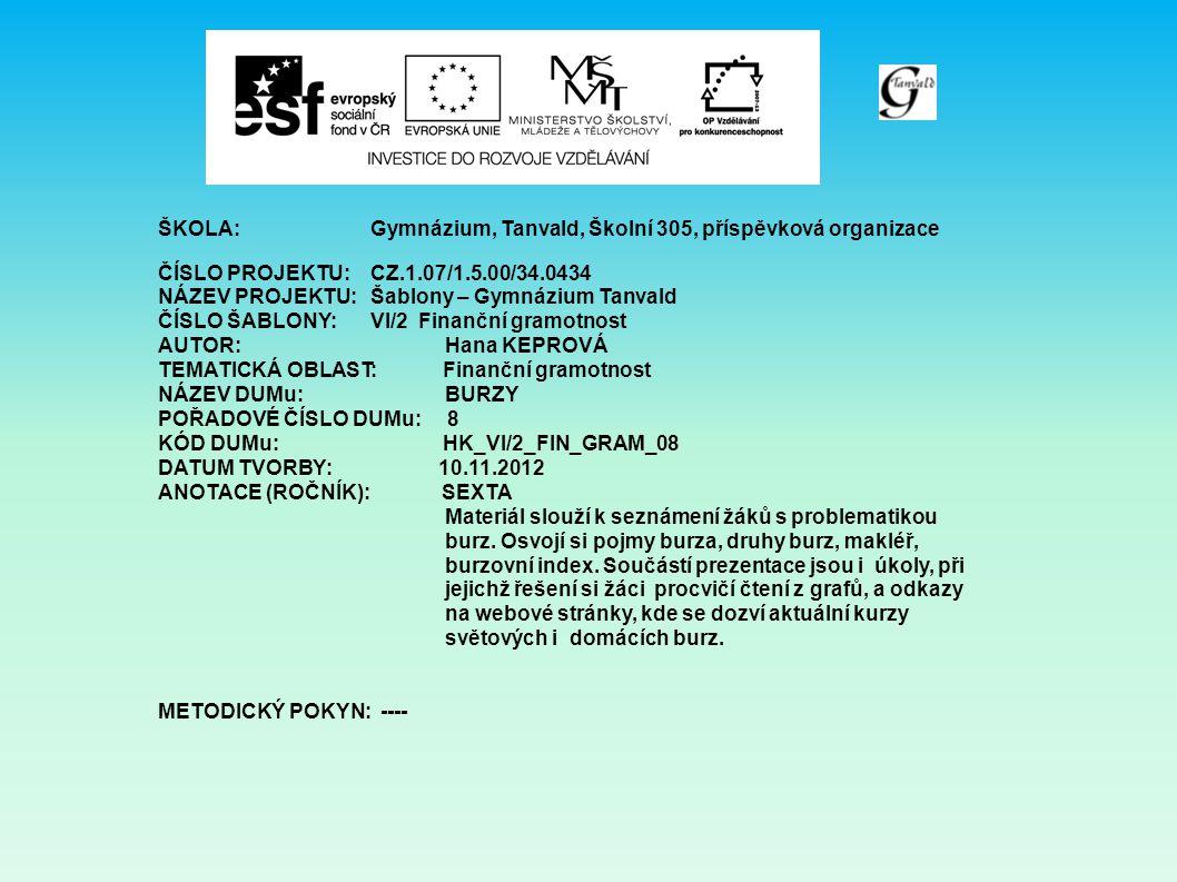 Zdroje: http://www.kurzy.cz/komodity/index.asp?A=5&idk=94&od=2.11.2 009&do=1.11.2012&curr=USD www.bcpp.cz www.pbb.cz www.kurzy.cz/komodity www.mesec.cz
